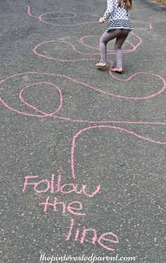 Sidewalk Chalk Games & Activities for kids. Fun outdoor play spring, summer and fall The post Sidewalk Chalk Games & Activities for kids. Fun outdoor play spring, summer and fall appeared first on Pink Unicorn. Outdoor Activities For Kids, Outdoor Learning, Outdoor Fun For Kids, Toddler Gross Motor Activities, Party Activities, Toddler Outdoor Games, Summer Activities For Preschoolers, Outdoor Toys, Outdoor Games For Children
