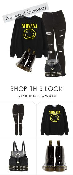 """Untitled #43"" by dark-soul-xd on Polyvore featuring Topshop, Chicnova Fashion and Dr. Martens"