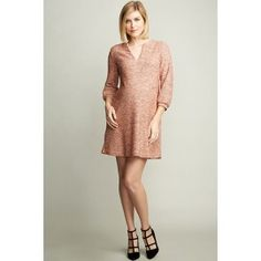 63fbac42006 Maternal America Pink Boucle Maternity Shift Dress. TummyStyle Maternity    Baby