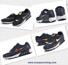new products 1797f a0931 scarpe eleganti Hologram 333888-435 Nike Air Max 90 Premium Navy scuro Blu  avorio negozio calzature