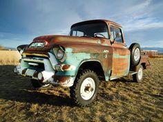 Tough Mudder: 1956 GMC 100 Series NAPCO 4x4 - http://barnfinds.com/tough-mudder-1956-gmc-100-series-napco-4x4/