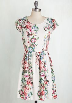 Bliss Takes the Cake Dress. Make a special day even lovelier by celebrating in this floral dress. #multi #modcloth