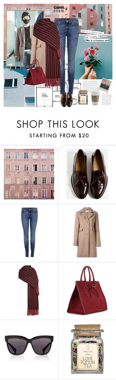 """""""Classy lady with handsome boy (Baekhyun~!)"""" by yuleici ❤ liked on Polyvore featuring 7 For All Mankind, Carven, Isabel Marant, Mansur Gavriel and Christian Dior"""