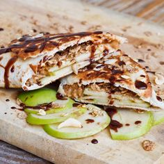 Peanut-Butter-Apple-Snack-Wraps. When short on time ;)
