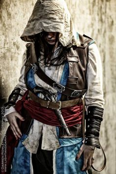 Edward Kenway cosplay from Assassin's Creed: Black Flag, Photography by Darren Rowley