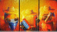 cuadros tipicos vallenatos - Buscar con Google African Art Paintings, Colombia South America, Porto Rico, Colombia Travel, Fashion Art, Folk Art, Tropical, Cool Stuff, Drawings