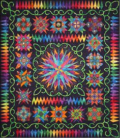 """Jungle Fever"" by Andrea Brokenshire, award winning quilt 2004"