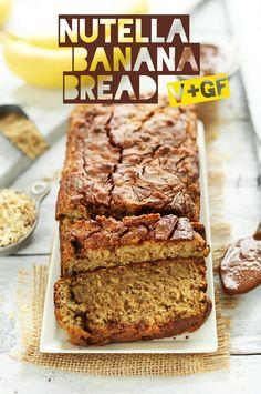 1 Bowl VEGAN Nutella Banana Bread! #vegan #glutenfree #minimalistbaker