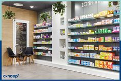 Farmacia Rosa dels Vents - Valencia (Spain) #Concep· #Interiordesing #design #style #interior #deco #farmacia #pharmacy Pharmacy Store, Interior Desing, Displays, Chemist, Showroom, Travel Tips, Shops, Retail, Furniture