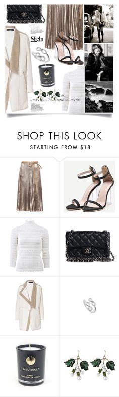 """""""Jewel Of The Sea"""" by violet-peach ❤ liked on Polyvore featuring Valentino, Alexander McQueen, Chanel and Hightide Devon"""