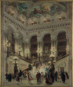 La escalinata de La Ópera, Louis Béroud (1877) Musée Carnavalet.