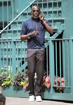 The Best Dressed Men Of The Week: Michael K. Williams in New York. #bestdressedmen #michaelkwilliams
