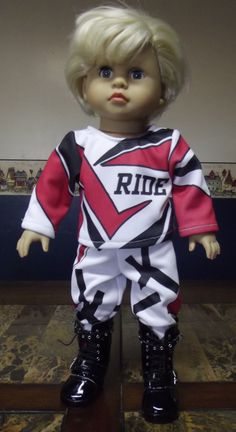Motocross  American Boy Doll Clothes Omg! Had no idea! Now all I need is a motocross barbie please!!