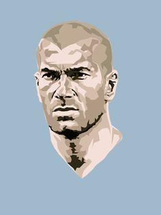 Sport poster soccer zinedine zidane 49 Ideas for 2019 Art Football, Neymar Football, Legends Football, Football Icon, College Football, Vintage Football, Zinedine Zidane, World Cup Draw, Real Madrid Club