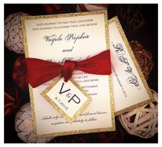 A personal favorite from my Etsy shop https://www.etsy.com/listing/221217752/apple-red-and-gold-glitter-wedding