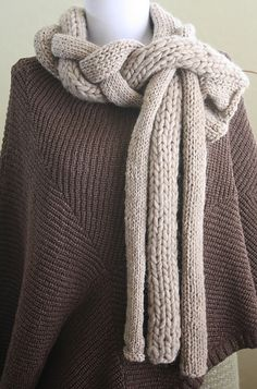 crochet inspiration ~ love this idea. . . . crochet (3) long tubes and braid them