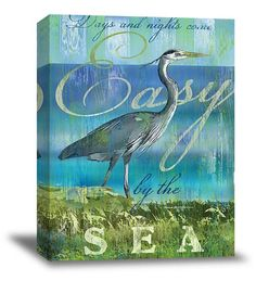 Easy By The Sea Canvas Art