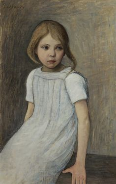 'Morning', oil on canvas, sign. 1899. Thilén, Ada (1852-1933)