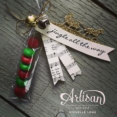 We made these sweet little treats at a recent workshop I taught. #jinglealltheway #artisandesignteam #stampinup