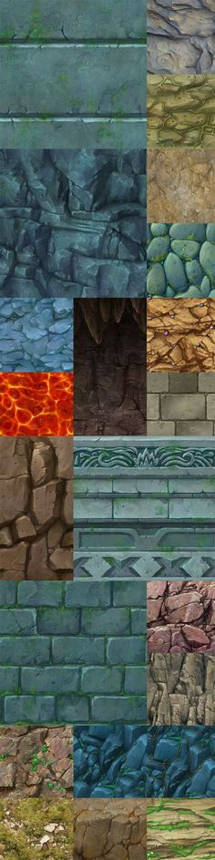 手绘山石地表贴图: Texture Drawing, Texture Mapping, 3d Texture, Texture Painting, Bg Design, Game Design, Game Textures, Textures Patterns, Environment Concept Art