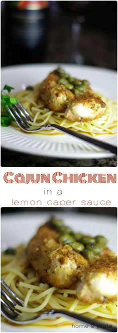 Cajun Chicken in a Lemon Caper Sauce | Home & Plate | www.homeandplate ...