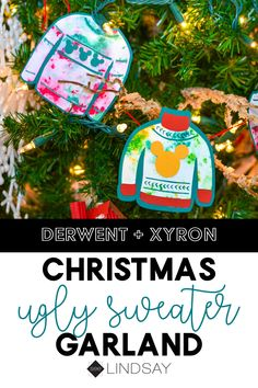 Craft yourself this super cute Christmas Ugly Sweater garland out of paper. Perfect for any Disney lover or just looking to add the magic of Mickey at the holidays. Christmas Crafts For Kids To Make, Christmas Ornaments To Make, Holiday Crafts, Christmas Diy, Christmas 2019, Creative Crafts, Fun Crafts, Paper Crafts, Disney Diy