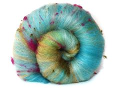 Texture un fibre de lait merino bourrette de soie par nunoco