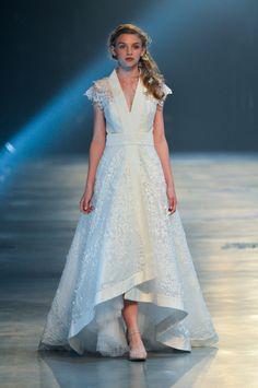 8092 Lazer Cut Japanese Inspired Dress David Fielden Sposa 2014