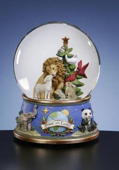 San Francisco Music Box Company - Lion and Lamb Water globe