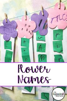 Name crafts are a great way to get preschoolers writing and using scissor skills and fine motor skills. This flower name activity is a great spring craft to do in your classroom. It's quick and low-prep, which makes it perfect for busy teachers! Name Writing Activities, Name Activities Preschool, Writing Activities For Preschoolers, April Preschool, Spring Activities, Preschool Activities, Writing Skills, Spring Craft Preschool, Summer Activities For Preschoolers