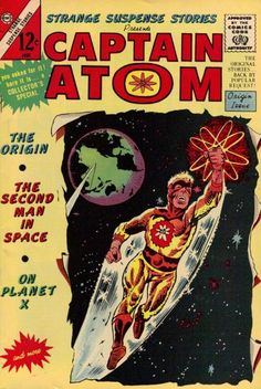 """Reprints the origin of Captain Atom in Strange Suspense #75 """"In This Issue Introducing Captain Atom"""" When Captain Adam is trapped in an atomic rocket, Captain Atom is born. Captain Atom goes on to stop some enemy agents who had sabotaged a Jupiter Rocket. Written by Joe (Doomsday+1) Gill with art by Steve (Blue Beetle) Ditko. Captain Atom's uniform was originally blue in the story."""