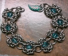 Stainless bynz with beads  by Tom