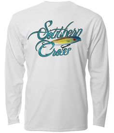 "Southern Cross Apparel ""Topwater"" performance long sleeve fishing shirt in White."