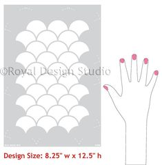 Mermaid scales! Moroccan Scallops Furniture Stencils for Painting - Royal Design Studio