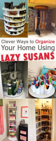 Lazy susans are versatile and can be used in multiple places in your home.