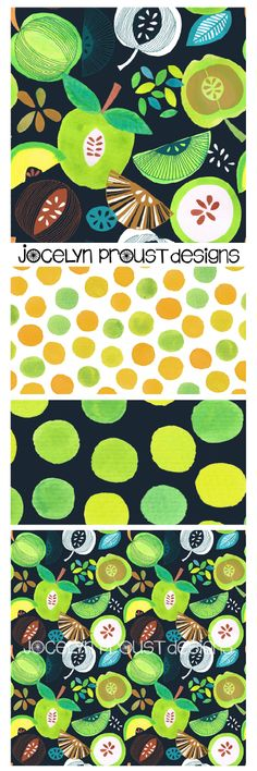 Apples collection - Jocelyn Proust Designs surface pattern design, textile design, fabric design