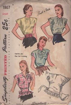 Ladies Shirts of the 1940's