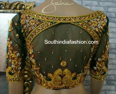 2017 grand wedding blouses for bride marriage pelli ki blouse aari work blouse designs for shadi heavy designer blouses for reception engagement half sarees Cutwork Blouse Designs, Wedding Saree Blouse Designs, Pattu Saree Blouse Designs, Simple Blouse Designs, Stylish Blouse Design, Blouse Neck Designs, Wedding Blouses, Lehenga Blouse, Maggam Work Designs