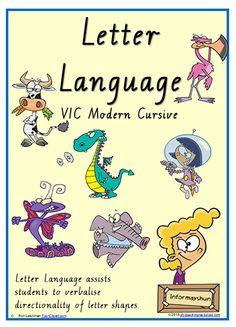 FONT OPTION | Foundation Handwriting | Lowercase Letter  Language | Charts | VIC Modern Cursive.
