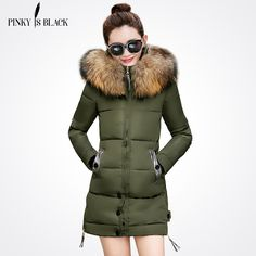Cheap collar parka, Buy Quality fur collar parka directly from China winter jacket women Suppliers: Thick Warm Female Outerwear Winter Jacket Women 2017 New Slim Feather Padded Hooded Cotton Coat Removable Fur collar parkas Winter Jackets Women, Coats For Women, Clothes For Women, Long Winter Coats, Long Coats, Fur Collar Coat, Womens Parka, Cotton Jacket, Down Coat