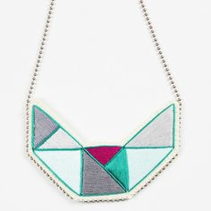 Geometric Bib Necklace Small
