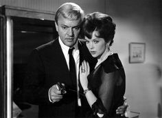 1000 Eyes of Doctor Mabuse - Dawn Addams Peter Van Eyck Peter Van Eyck, Thriller Film, Dawn, All About Time, Couple Photos, Celebrities, Movies, Rice, Fictional Characters