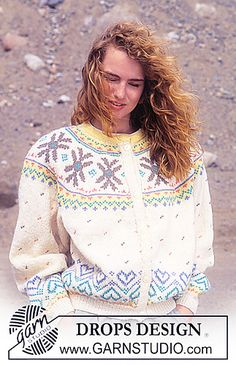 Ravelry: 23-8 Jacket with pattern borders pattern by DROPS design