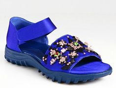 CHRISTOPHER KANE EMBROIDERED SILK AND SATIN SANDALS: ALMOST AS UGLY CROCS