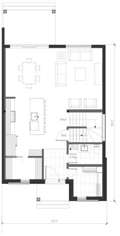 121 avec un garage tandem Domaine le Gendre - Habitations Villa Design, House Design, Cool Room Designs, Plan Garage, Canada House, Model House Plan, Small Cottages, Affordable Housing, Plan Design