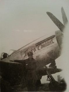 Mustangs of the 9th air force. My grandfather took this picture.I don't know any thing about the pilots  or planes any info would be great.