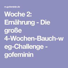 Woche 2: Ernährung - Die große 4-Wochen-Bauch-weg-Challenge - gofeminin