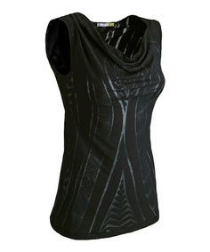 Take a look at this Black Fusion Sleeveless Top - Women by New Balance on #zulily today!