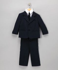 Another great find on #zulily! Dark Navy Five-Piece Suit Set - Infant, Toddler & Boys by LA Sun #zulilyfinds