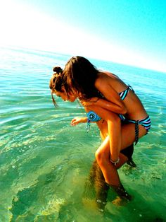 Sadie haha this is so us.. except the picture doesn't show the part where you drop me in the water and fall on top of me (;